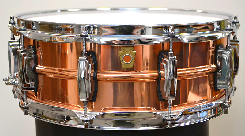 ludwig 5x14 copperphonic snare drum reverb. Black Bedroom Furniture Sets. Home Design Ideas