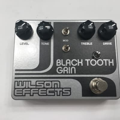 Wilson Effects Black Tooth Grin Distortion Overdrive Rare Guitar Effect Pedal