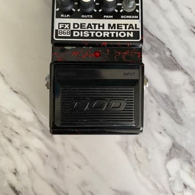 DOD FX86B  Death Metal Distortion Pedal Black and red for sale