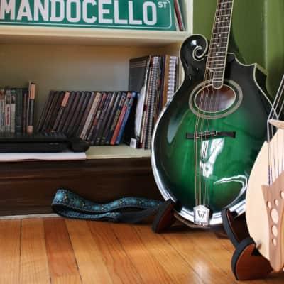 Weber Custom Vintage F-style Mandocello  2013 Green Burst