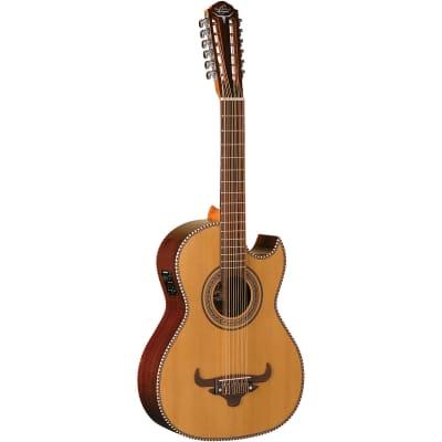 Oscar Schmidt OH52SE Acoustic-Electric Bajo Sexto Guitar w/ Gig Bag, Natural for sale