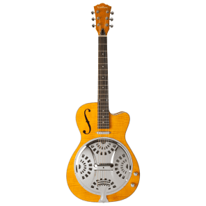 Washburn R45RCE Bluegrass Round Neck Resonator with Electronics Natural