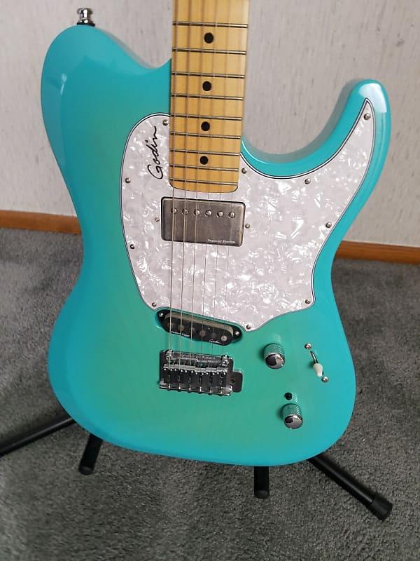 godin session custom 59 limited coral blue hg electric guitar reverb. Black Bedroom Furniture Sets. Home Design Ideas