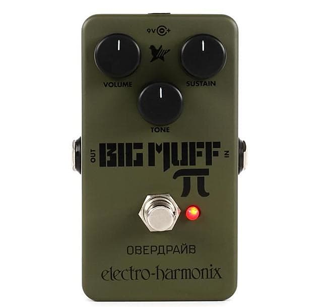 electro harmonix green russian big muff distortion fuzz reverb. Black Bedroom Furniture Sets. Home Design Ideas