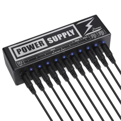 Guitar Pedal Power Supply High Current 10 Isolated DC Output for 9V/12V/18V Effect Pedal by Donner