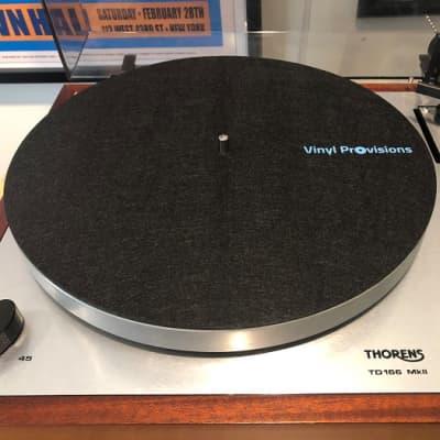Black Felt Turntable Mat with Vinyl Provisions Logo