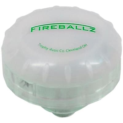 Trophy FX14GR FIREBALLZ Vibration Sensitive LED Cymbal Nut, Screaming Green