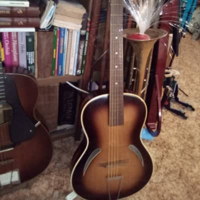 E German Rickenbacker  1950's sunburst satin for sale