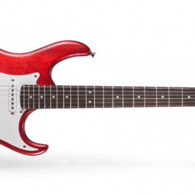 Cort #G100 - G Series Strat Style Electric Guitar, Open Pore Black Cherry Red