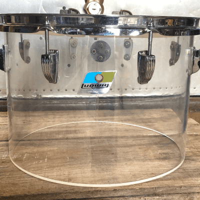 """1970s Ludwig Vistalite 10x14"""" Concert Tom with Single-Color Finish"""