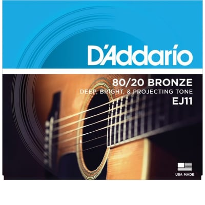D'Addario EJ11 Light 80/20 Bronze Acoustic Strings - .012-.053