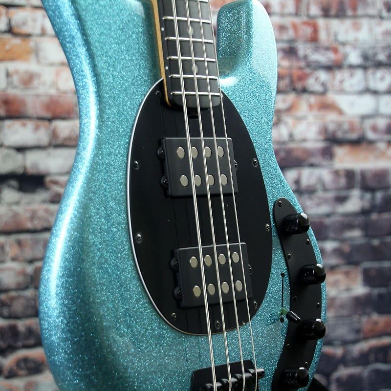 ernie ball music man stingray hh bass aqua sparkle reverb. Black Bedroom Furniture Sets. Home Design Ideas