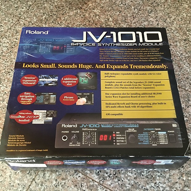 Roland JV-1010 - like new, with packaging + software CD + manual