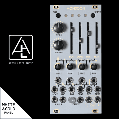 Monsoon (Expanded uBurst) - Mutable Instruments Micro Clouds - Eurorack Module - White/Gold Panel