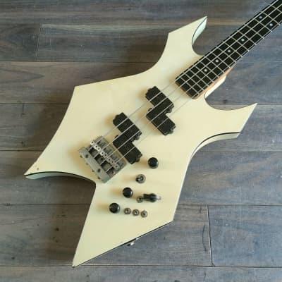 1988 BC Rich Japan (NJ Series II) Warlock Bass (White) for sale