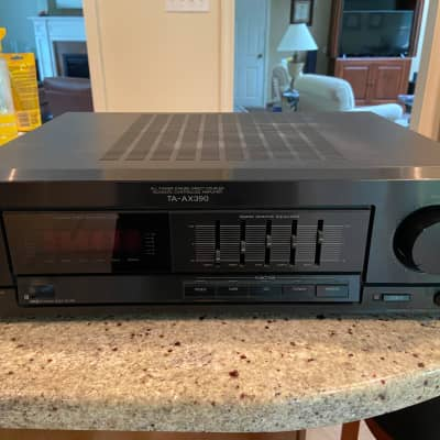 Vintage Sony TA-AX390 High-Fidelity Integrated Stereo Receiver with Built-In Tape & Phono Preamps