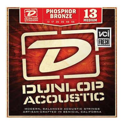 Dunlop DAP1356 Phosphor Bronze Acoustic Guitar Strings, Medium
