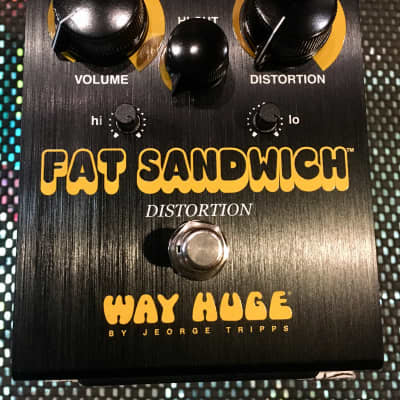 Way Huge Fat Sandwich Distortion Pedal Limited Edition Black Model in box 2010s Black