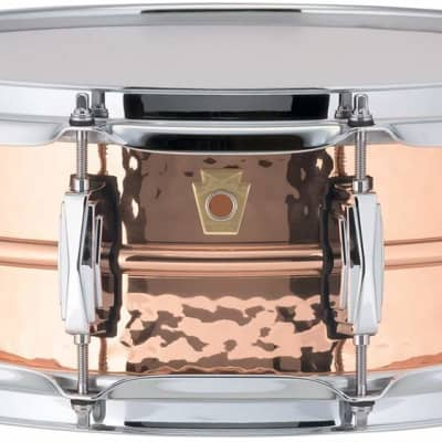 """Ludwig LC660K Hammered Copper Phonic 5x14"""" Snare Drum"""
