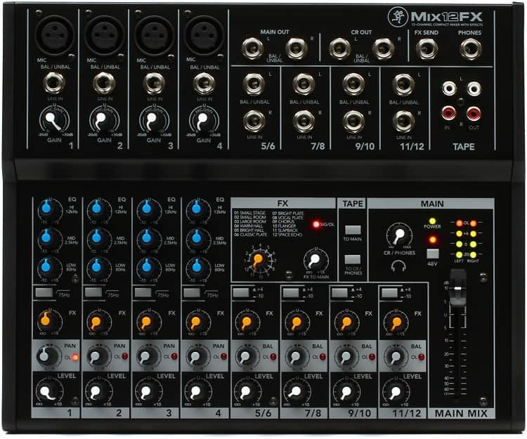mackie mix12fx mixer with effects gearnuts reverb. Black Bedroom Furniture Sets. Home Design Ideas