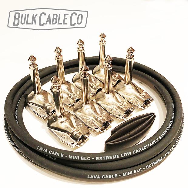 pedal board patch cable kit 4 fx cables 6 39 lava mini reverb. Black Bedroom Furniture Sets. Home Design Ideas