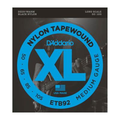 D´Addario ETB92 Black Nylon Tapewound Bass Strings 50-105