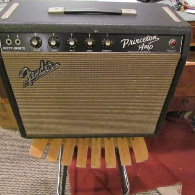 1965 Fender Princeton Vintage Blackface Fender Princeton Changed Speaker Serviced Works Great for sale