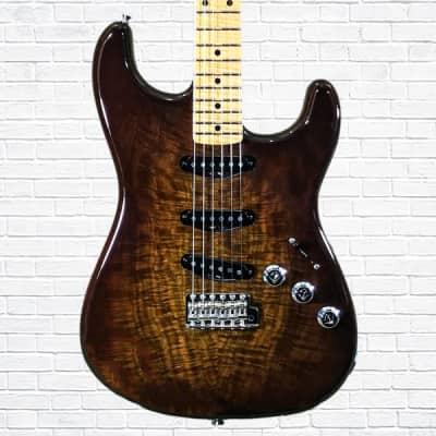 Fender Custom Shop Master Built John Cruz Claro Walnut Top Koa Stratocaster Faded Chocolate Burst
