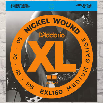 D'Addario EXL160 Medium Nickel Wound 4 Bass Strings 50-105
