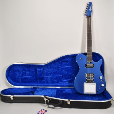 2019 Manson  MA EVO Metallic Bluebell Limited Edition MIDI Sustainer Guitar OHSC for sale