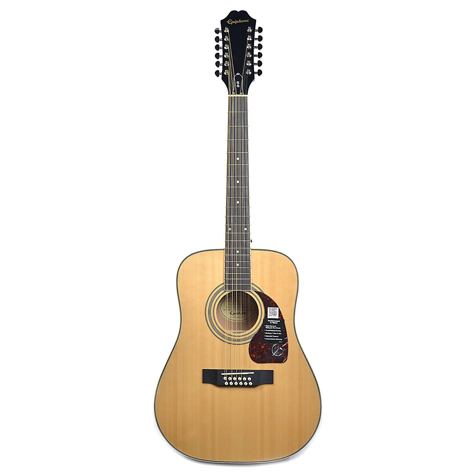 bd17791307a Epiphone DR-212 Dreadnought 12-String Acoustic Natural