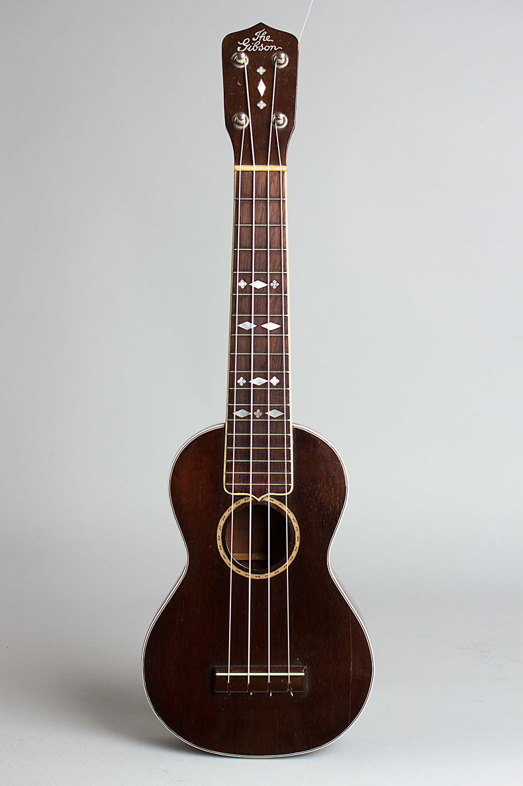 Gibson  Uke-3 Soprano Ukulele,  c. 1928, chipboard case.