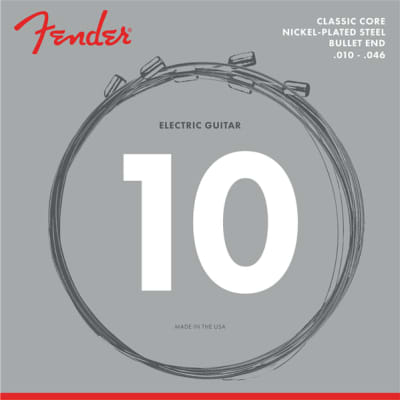 Fender Classic Core Electric Strings 3255L Nickel Plated Steel Bullet Ends 10 for sale