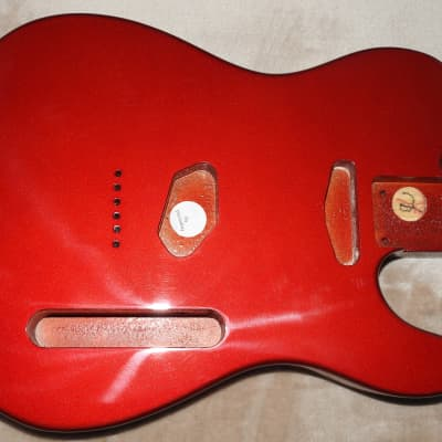Mighty Mite MM2705AF-CAR Swamp Ash Tele Body Candy Apple Red Thin Poly Finish NOS #2 Light 4lbs 15oz