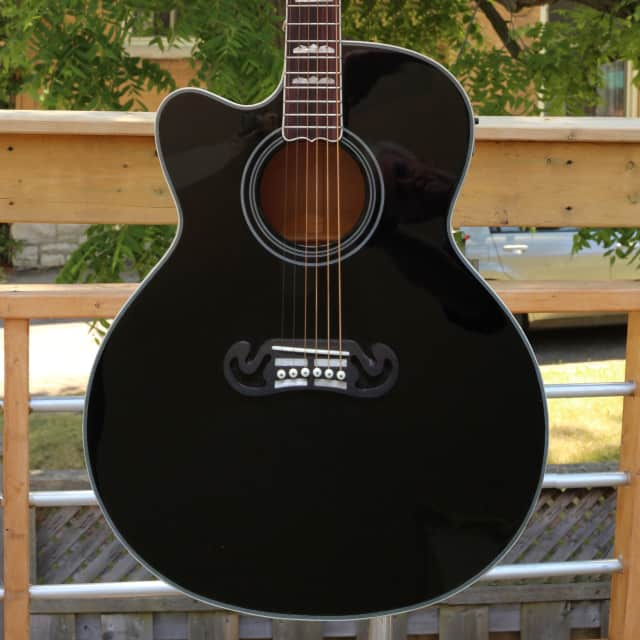 Fishbone's  Byron Series Acoustic Piezo Jumbo BLK200-SC Lefty Black image