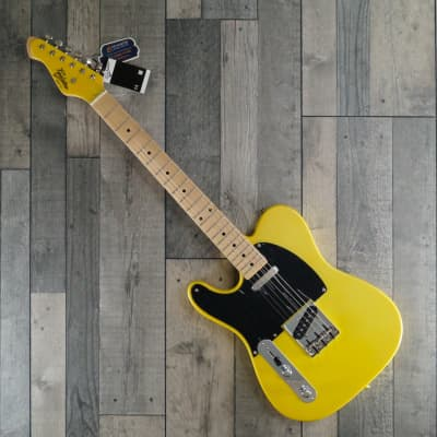 Revelation RVT 'Left Handed' Electric Guitar, Vibrant Yellow for sale