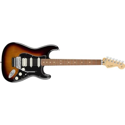 Fender Player Stratocaster Floyd Rose HSS 3 Tone Sunburst Pau Ferro for sale