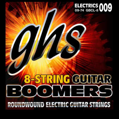 GHS GBCL Boomers Electric Guitar String Set, Custom Light, 9-46