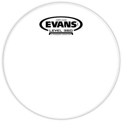 Evans TT10CC Corps Clear Marching Tenor Drum Head - 10""