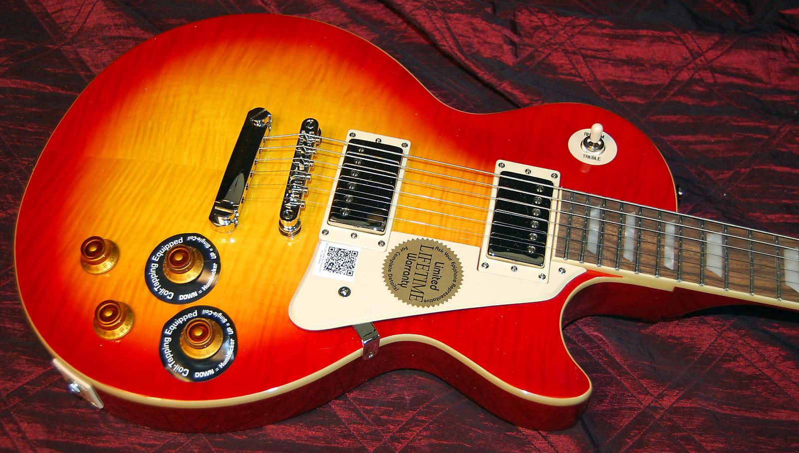 MINTY! Epiphone Les Paul Standard Plustop PRO Electric Guitar Honey Burst  Authorized Dealer SAVE BIG