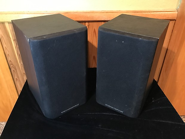 Cerwin Vega LS 5 Black Two Way Bookshelf Speakers Surround Stereo Vintage Hi Fi