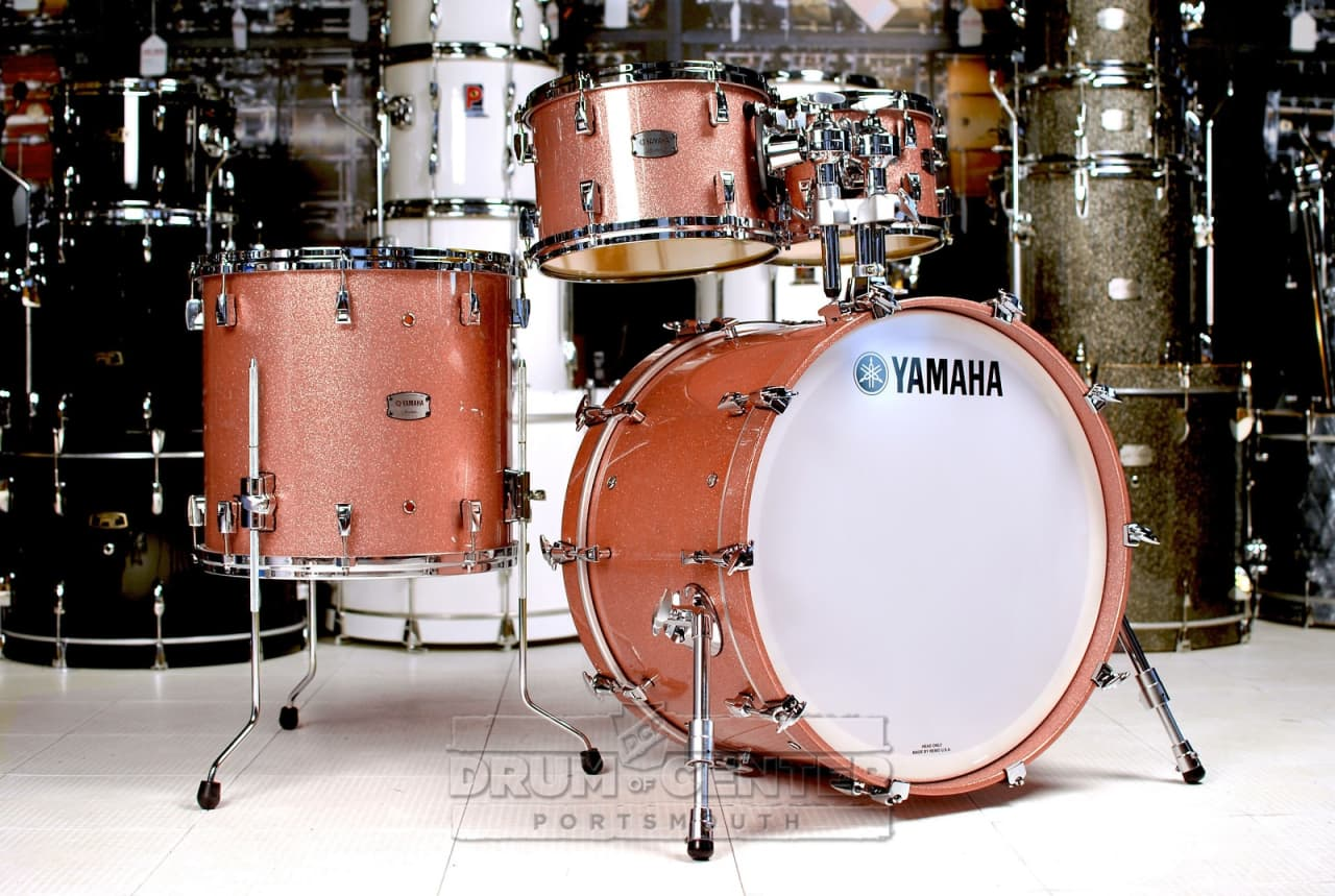 Yamaha absolute hybrid 5pc drum set pink champagne sparkle for Yamaha portable drums