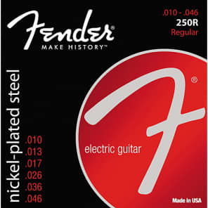Fender Super 250R Nickel-Plated Steel Electric Guitar Strings Set, REGULAR 10-46 for sale