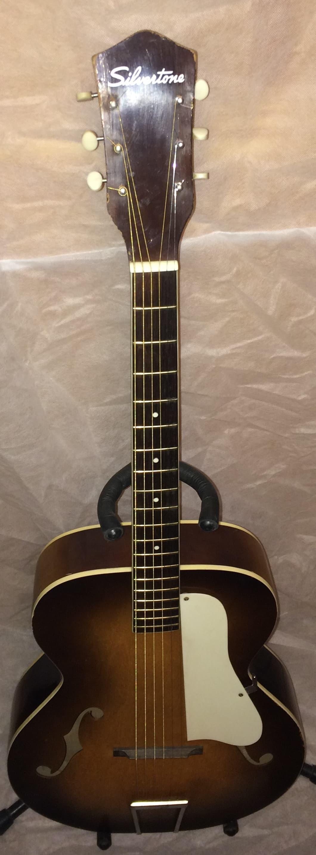 Vintage Silvertone N3 Archtop Guitar 60's nice player | Reverb