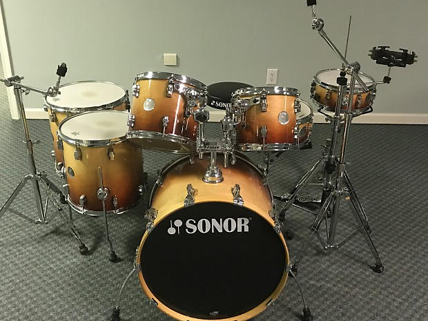 da50d6ad1f4b Sonor Force 3005 Autumn Fade 7 Piece Maple Drum Set