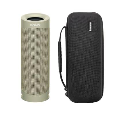 Sony SRSXB23 EXTRA BASS Bluetooth Wireless Portable Speaker (Taupe) bundle