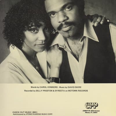 """""""With You I'm Born Again"""" Sheet Music P/V/G Key of G by Billy Preston and Syreeta on Motown Belwin"""