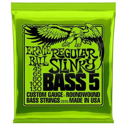 Ernie Ball 2836 Bass 5 Regular Slinky Electric Bass Strings