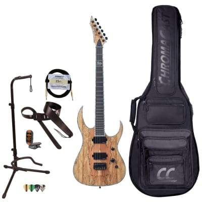 BC Rich Guitars Shredzilla Extreme Electric Guitar with Hipshot, Case, Strap, and Stand, Spalted Maple for sale