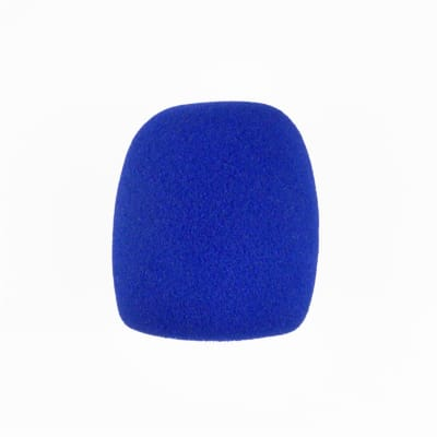 Microphone Windscreen - Blue Colored - Fits Shure SM58, Beta 58A & Similar - Vocal Mic Cover New